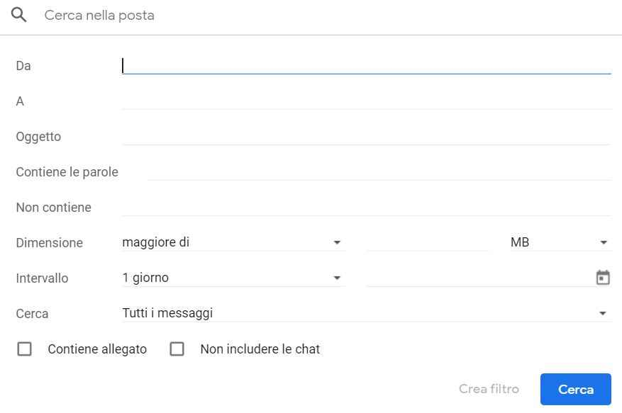 eliminare email gmail automaticamente